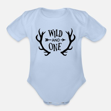 Wild And One Wild and One - Organic Short-Sleeved Baby Bodysuit