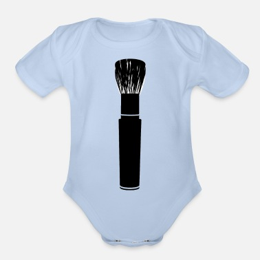 Brushes brush - Organic Short-Sleeved Baby Bodysuit