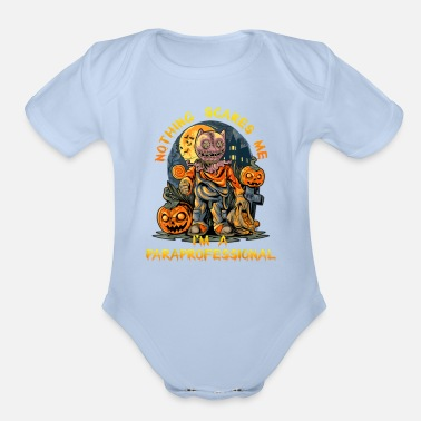 Education-culture Paraprofessional teacher Funny Halloween Pumpkin - Organic Short-Sleeved Baby Bodysuit