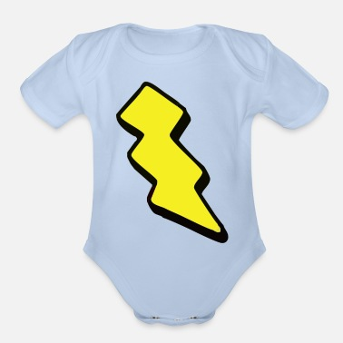 Bolt bolt - Organic Short-Sleeved Baby Bodysuit