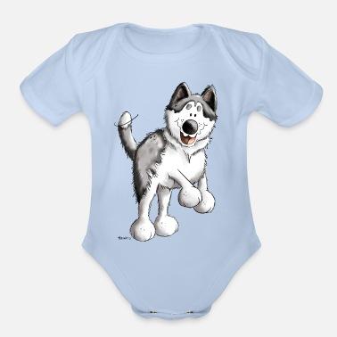 0e7e9c8c5 Running Husky - Huskies - Dog - Gift - Cartoon Toddler Premium T ...