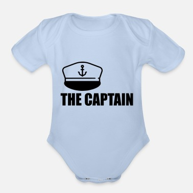 Captain the captain - Organic Short Sleeve Baby Bodysuit