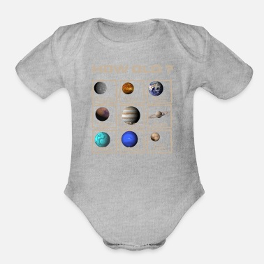 Phone Top Funny 50th Birthday Gift Planet Years - Organic Short-Sleeved Baby Bodysuit