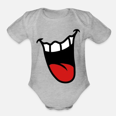 Mouth Mouth - Organic Short-Sleeved Baby Bodysuit