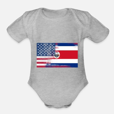 1//2 Costa Rican is better than none Costa Rica Flag Embroidered Baby Bodysuit