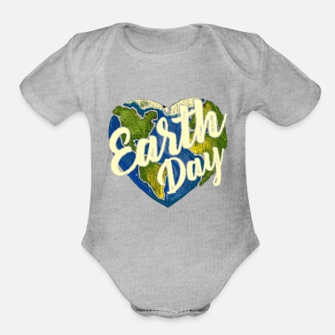 Earth Day Earth Day Shirt - Organic Short-Sleeved Baby Bodysuit