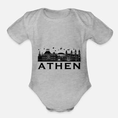 Athens Athens maincapital of greece town gift - Organic Short Sleeve Baby Bodysuit