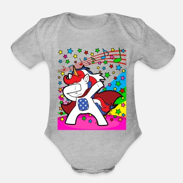 Discothek Dabbing Dab Unicorn Disco Party Music Discothek - Organic Short-Sleeved Baby Bodysuit