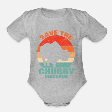 Java Save the Chubby Unicorns Geschenk Rhino Nashorn - Organic Short Sleeve Baby Bodysuit