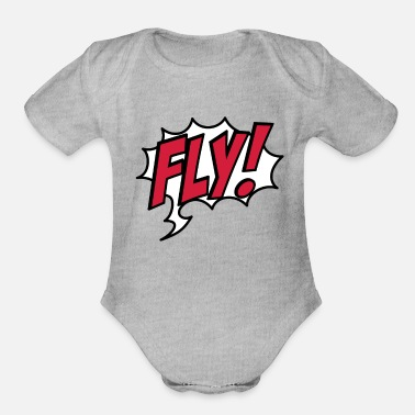 Flying Fly - Organic Short-Sleeved Baby Bodysuit