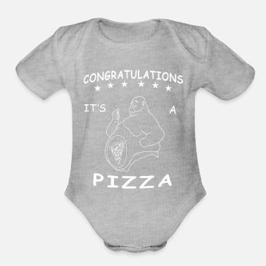 funny pizza bone saying cheese italy hunger gift - Organic Short Sleeve Baby Bodysuit