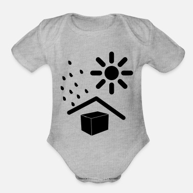Weather weathered - Organic Short-Sleeved Baby Bodysuit