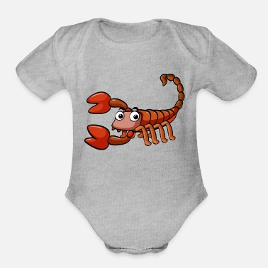 Scorpion scorpion - Organic Short-Sleeved Baby Bodysuit