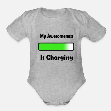 Andrew Keresa awesomenessgreen - Organic Short-Sleeved Baby Bodysuit