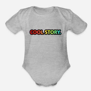 Cool Story COOL STORY. - Organic Short-Sleeved Baby Bodysuit
