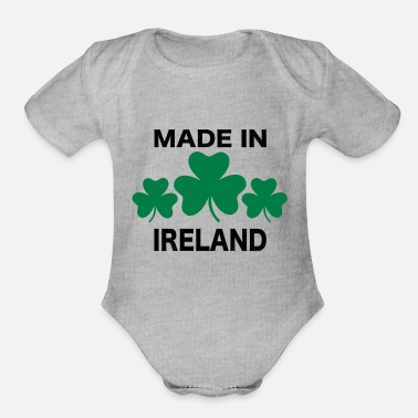 Ireland Ireland - Organic Short-Sleeved Baby Bodysuit