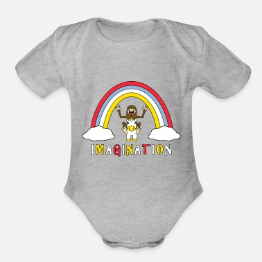 Imagination Imagination - Organic Short-Sleeved Baby Bodysuit