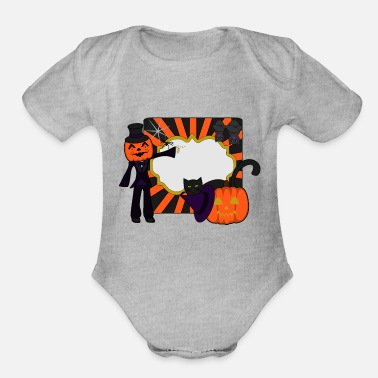 Shoplifter Halloween Greeting - Organic Short-Sleeved Baby Bodysuit