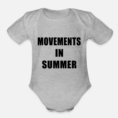 Movement Movements In Summer - Organic Short Sleeve Baby Bodysuit