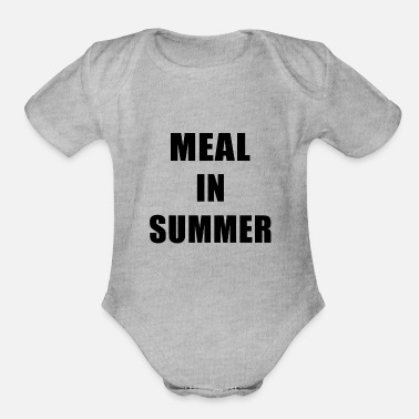 Meal Meal In Summer - Organic Short-Sleeved Baby Bodysuit