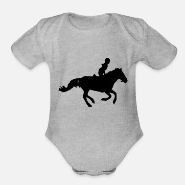 Gallop Gallop - Organic Short-Sleeved Baby Bodysuit