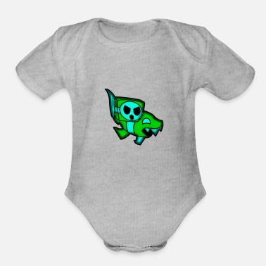 Geometry ship GD(geometry dash) - Organic Short Sleeve Baby Bodysuit