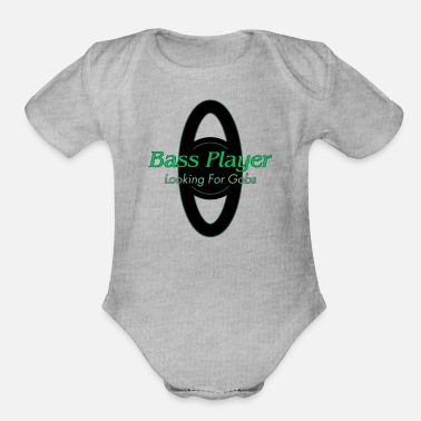 Bass Player Bass Player - Organic Short Sleeve Baby Bodysuit