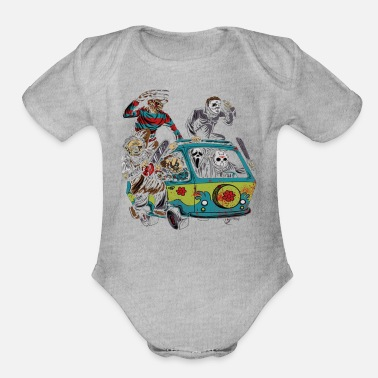 Film Horror film - Organic Short-Sleeved Baby Bodysuit