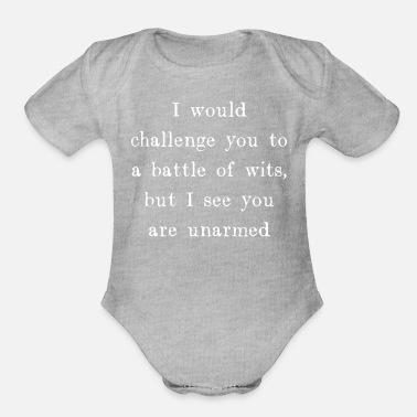 Wit Battle of Wits - Organic Short-Sleeved Baby Bodysuit