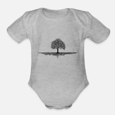 Tree tree - Organic Short-Sleeved Baby Bodysuit
