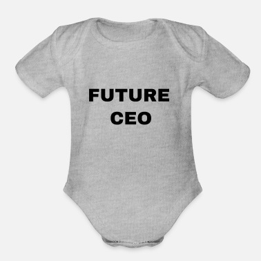 Future Future CEO - Organic Short Sleeve Baby Bodysuit