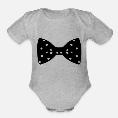 Vector Death Awareness Black Ribbons Bow Ties No ♥•Vector Classic Fabulous Polka dot Bow Tie•♥ - Organic Short-Sleeved Baby Bodysuit