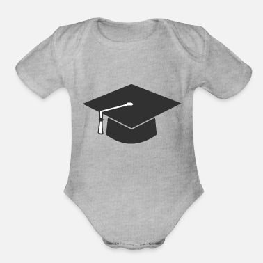 Convocation Minimliast Graduation Hat - Organic Short-Sleeved Baby Bodysuit