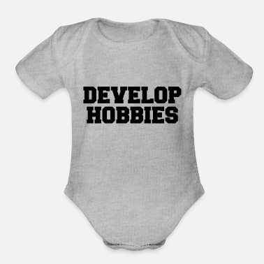 Hobby DEVELOP HOBBIES - Organic Short Sleeve Baby Bodysuit