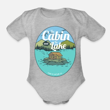 The Cabin and The Lake - Organic Short Sleeve Baby Bodysuit