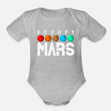 Occupy Occupy Mars - Organic Short-Sleeved Baby Bodysuit