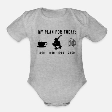 Today my plan for today - Organic Short-Sleeved Baby Bodysuit