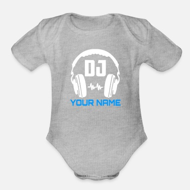 Name DJ your name - Organic Short-Sleeved Baby Bodysuit