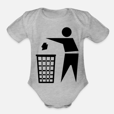 Recycling recycle - Organic Short-Sleeved Baby Bodysuit