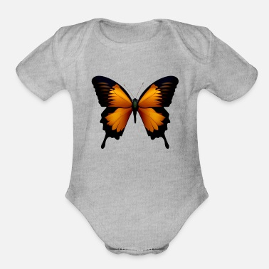 Butterfly Insect Fly Gift Present - Organic Short-Sleeved Baby Bodysuit