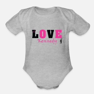 Kennedy 2 Love Kennedy - Organic Short-Sleeved Baby Bodysuit