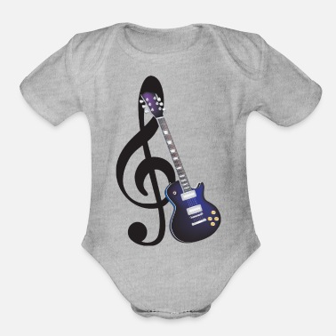 Hard Rock Electric Guitar - Organic Short-Sleeved Baby Bodysuit