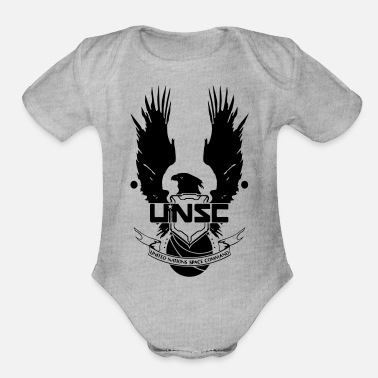 unsc halo 4 - Organic Short-Sleeved Baby Bodysuit