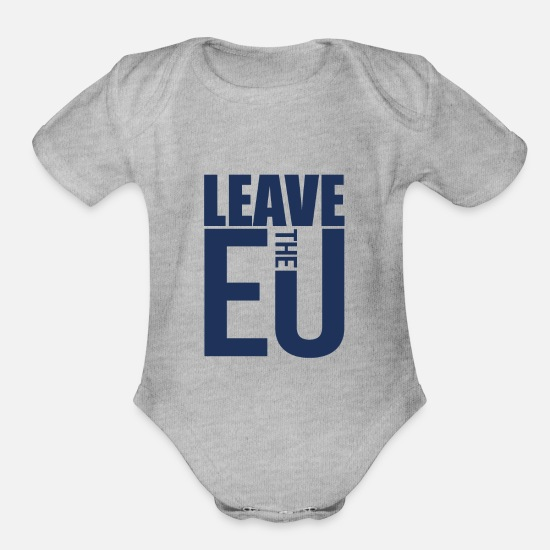 Eu Baby Clothing - EU Elections - Organic Short-Sleeved Baby Bodysuit heather gray