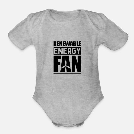 Renewable Energy Baby Clothing - Renewable Energy Renewable Energy - Organic Short-Sleeved Baby Bodysuit heather gray