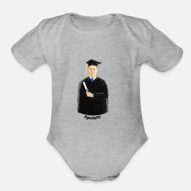 Science Student Graduate student studying science - Organic Short Sleeve Baby Bodysuit