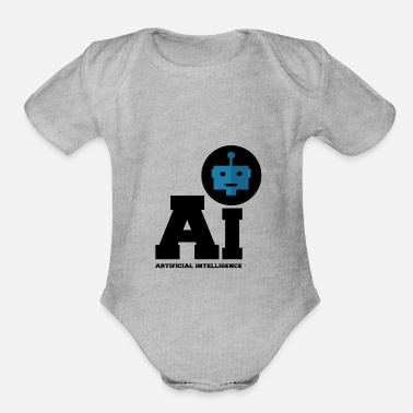 Intelligence Artificial Intelligence - A.I. in blue - Organic Short-Sleeved Baby Bodysuit