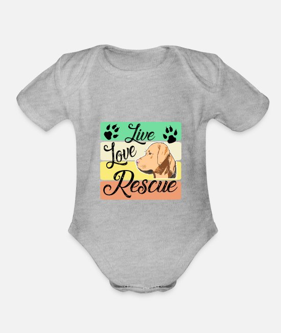 Owner Baby One Pieces - Labrador Retriever - Organic Short-Sleeved Baby Bodysuit heather gray