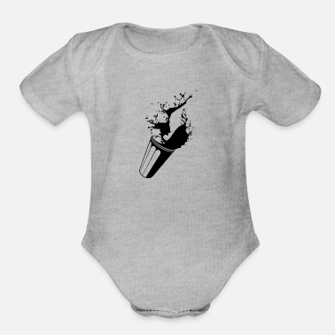Drinking Contest DRINK - Organic Short-Sleeved Baby Bodysuit