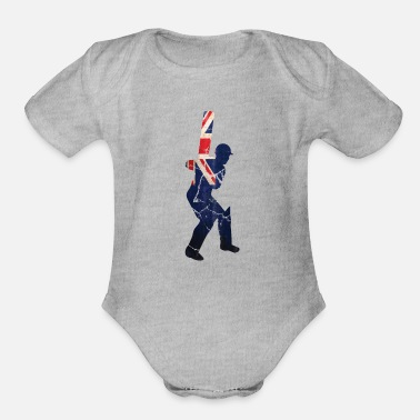 England Cricket cricket player gift England - Organic Short-Sleeved Baby Bodysuit